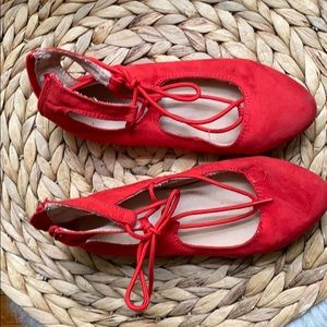 Red shoes for girl